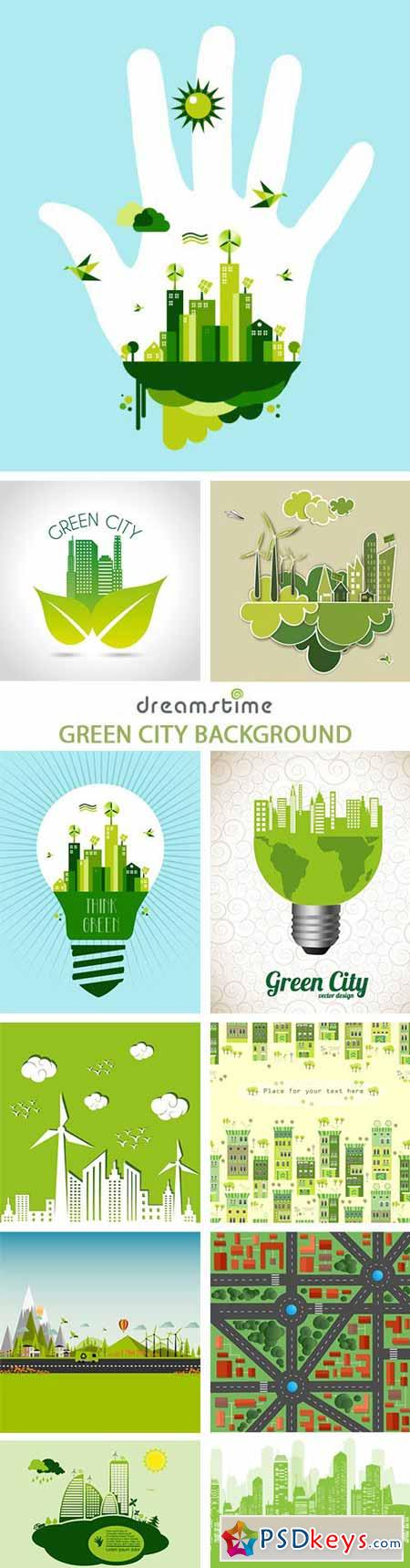 Green City Background - 25xEPS