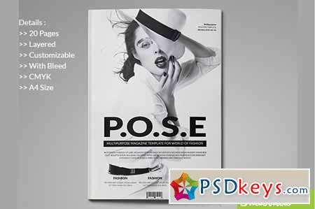 InDesign Magazine Template 147356 » Free Download Photoshop Vector ...