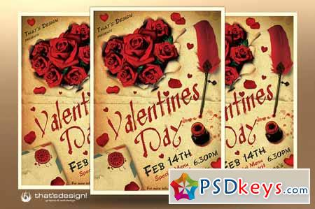 Valentines Day Flyer Template V5 149076