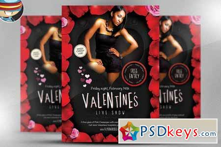 Valentines Live Show Flyer Template 20048