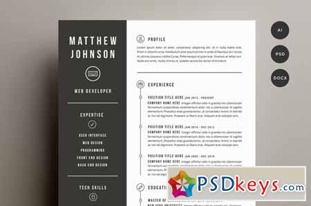 resume cover letter template 141501 a free download photoshop