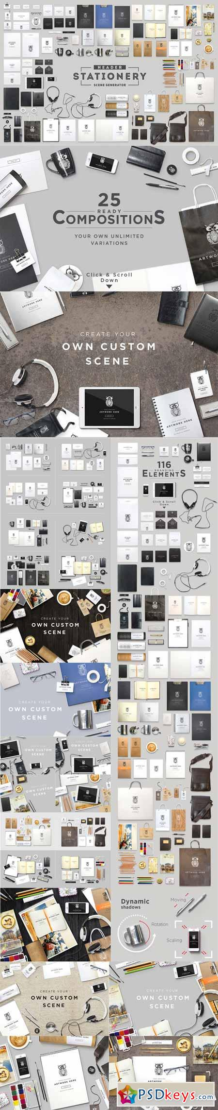 Header Stationery Scene Generator 144381