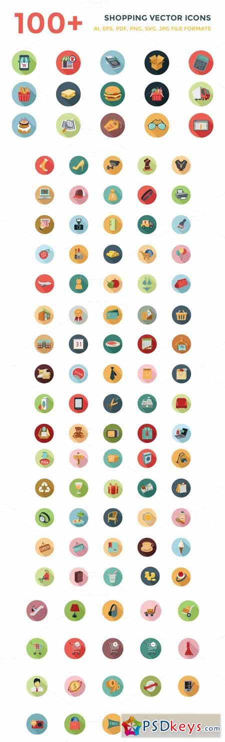 100+ Shopping Vector Icons 132499