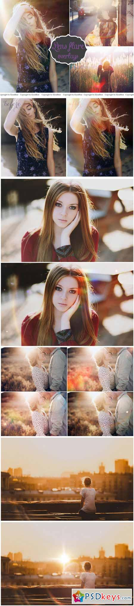 30 Lens Flare Overlays JPEG and PNG 153609