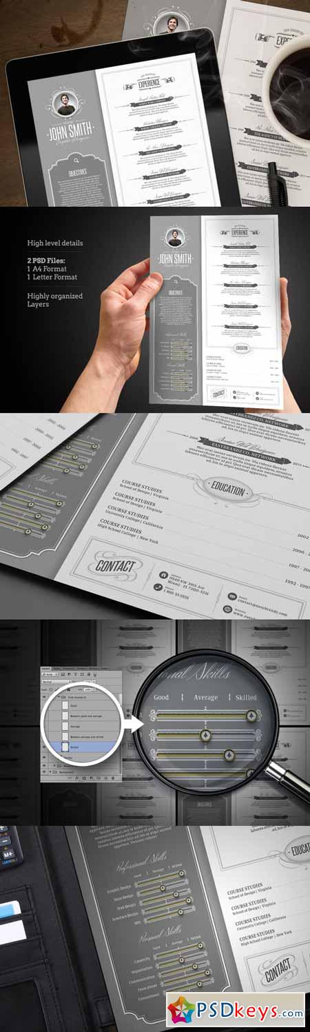 retro resume template 12144  u00bb free download photoshop vector stock image via torrent zippyshare