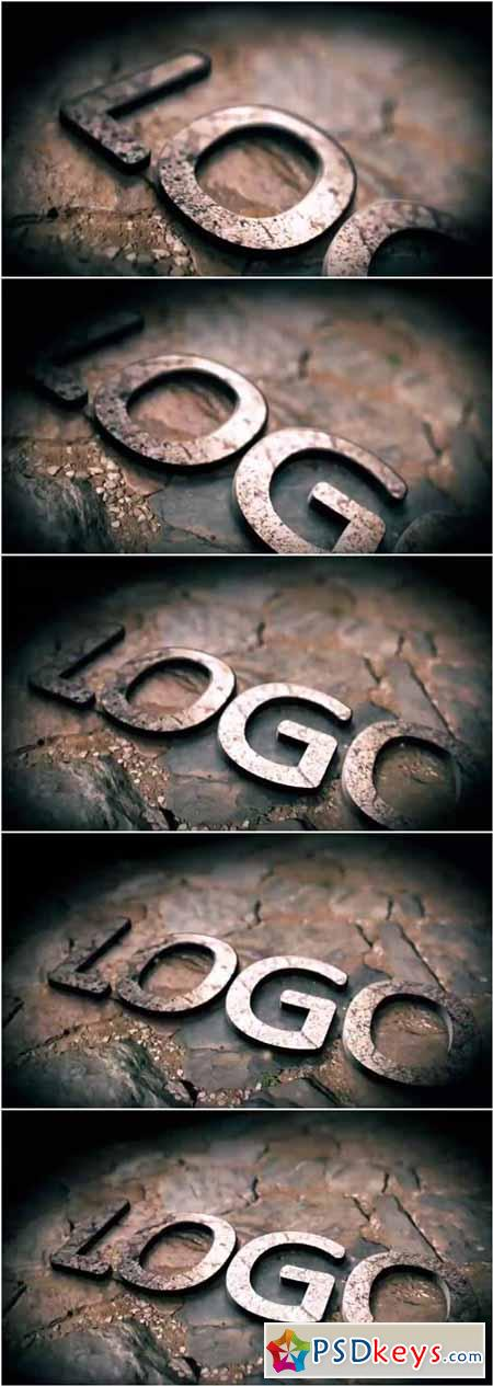 3D Metallic Stone Logo Reveal After Effects Project