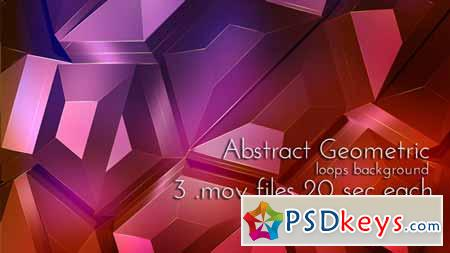 Geometric Abstract Techno Surface - Motion Graphics 8294815