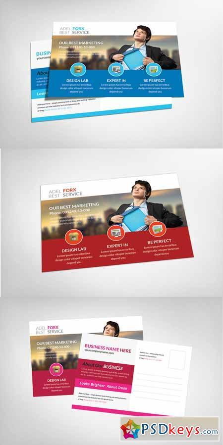 Marketing Postcard Template 151882 » Free Download Photoshop ...