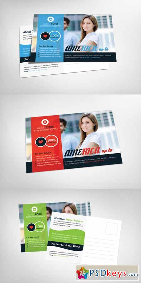 Global Business Postcard Template 147258