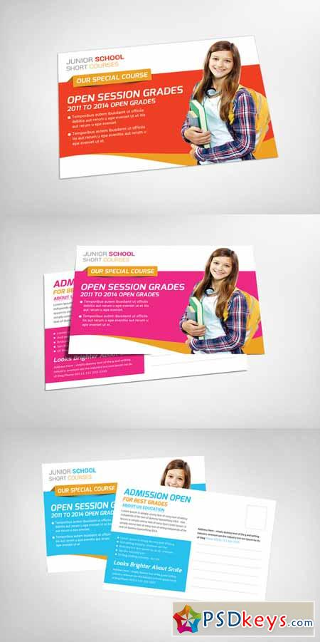 Junior School Postcard Template 102909