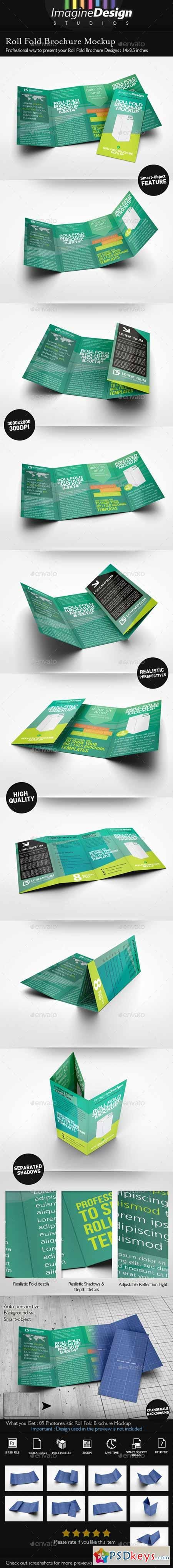 roll fold brochure template - roll fold brochure mockup 10020772 free download