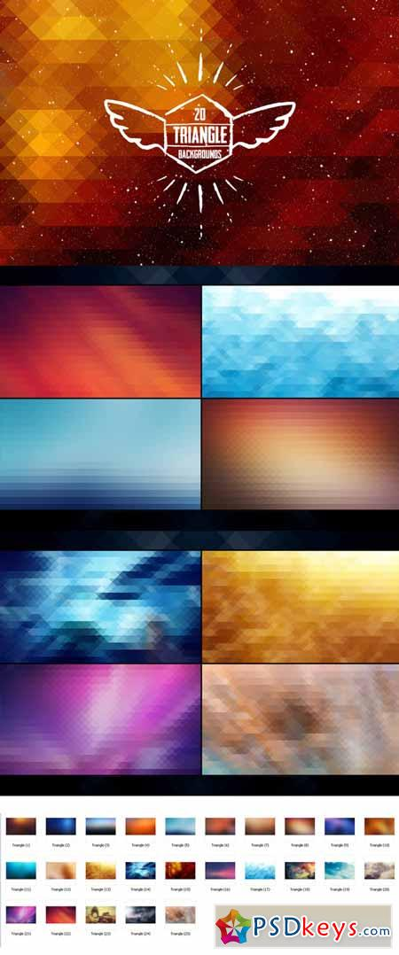25 Triangle Backgrounds 119816