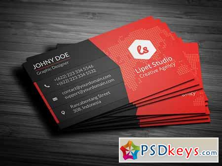 Rise Modern Business Card Template Free Download - Photoshop business card template