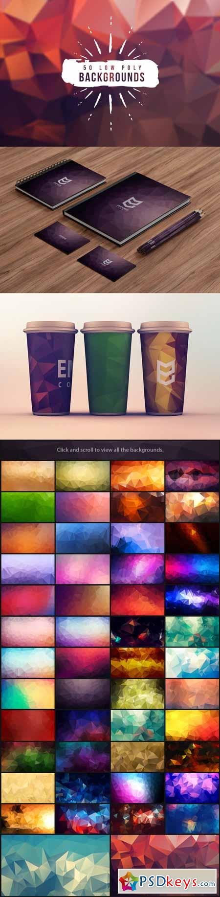 50 Low Poly Backgrounds 94049