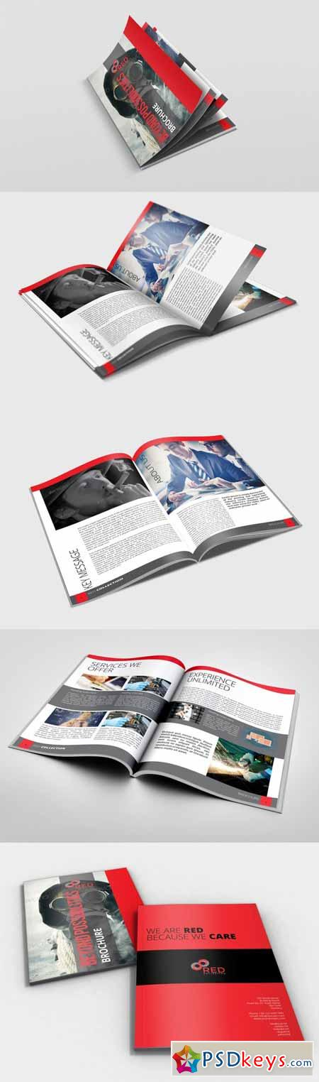 Red InDesign Brochure for Business 136284