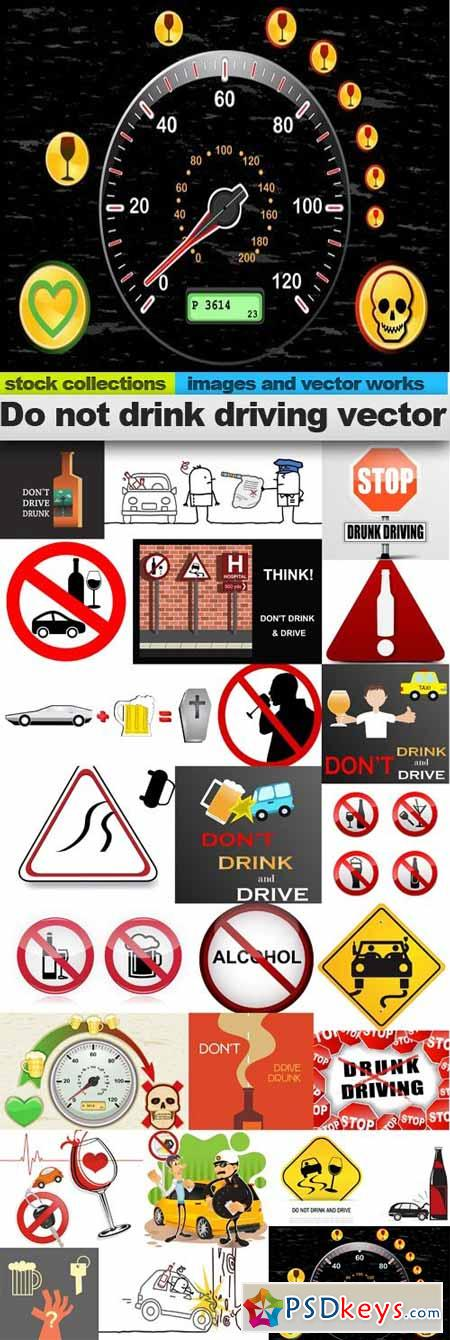 Do not drink driving vector,25 x EPS