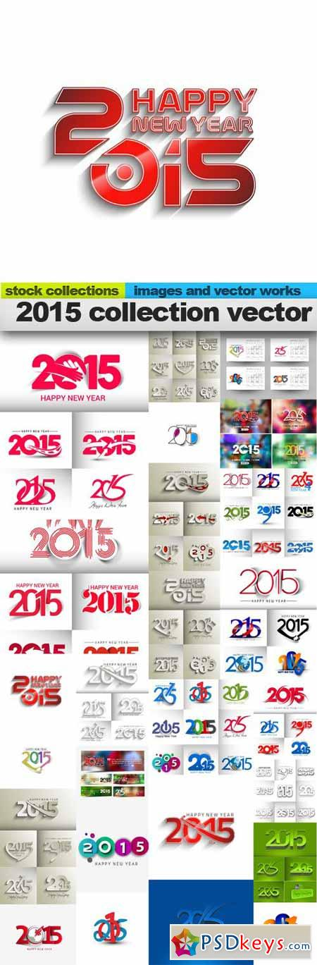 2015 collection vector, 25 x EPS