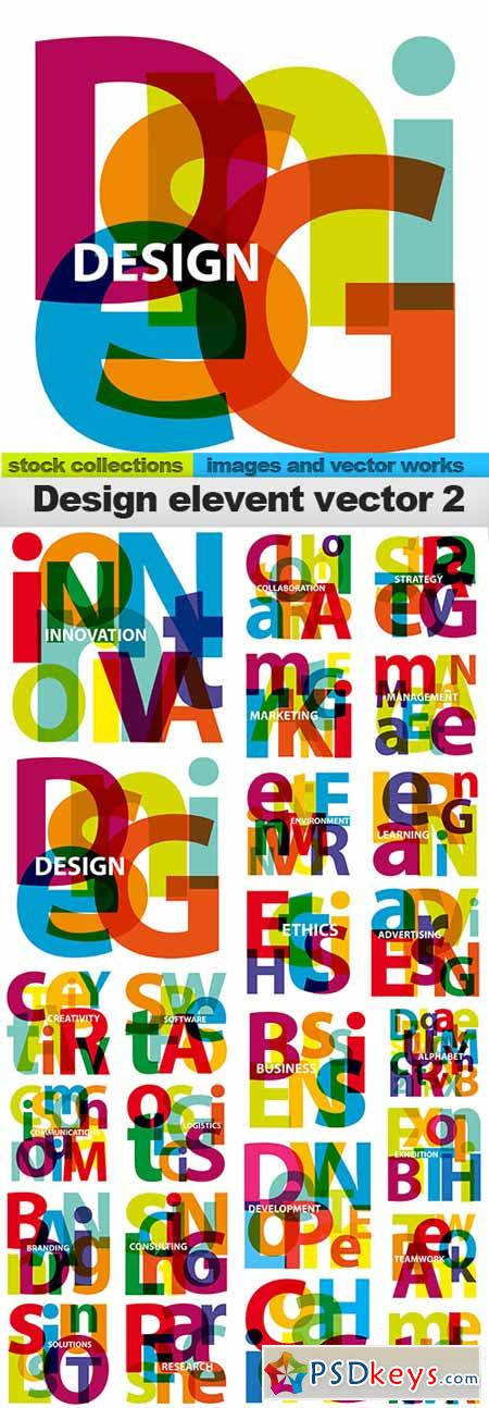 Design element vector2,25x EPS