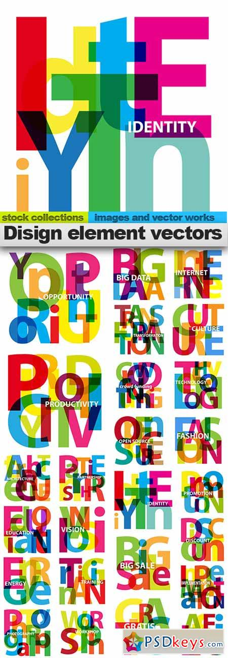 Disign element vectors,25x EPS