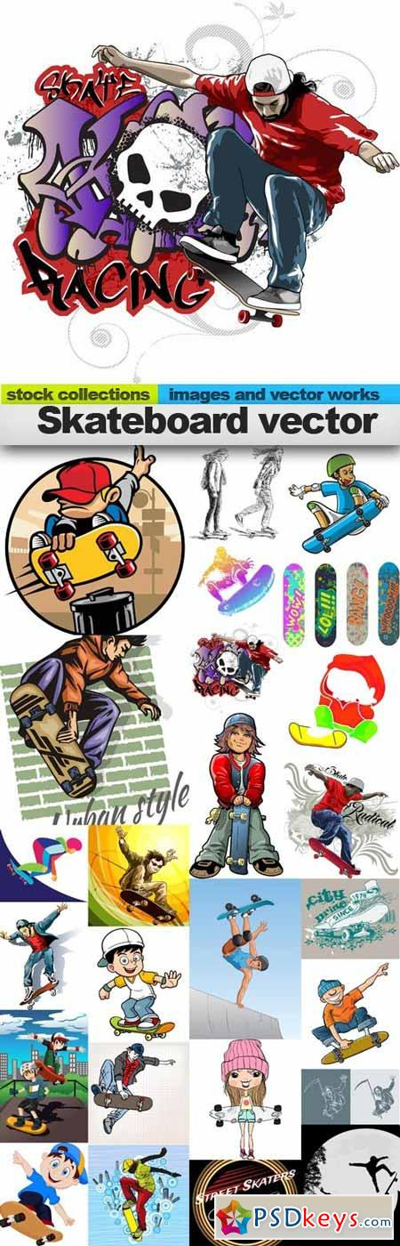 Skateboard vector,25 x EPS