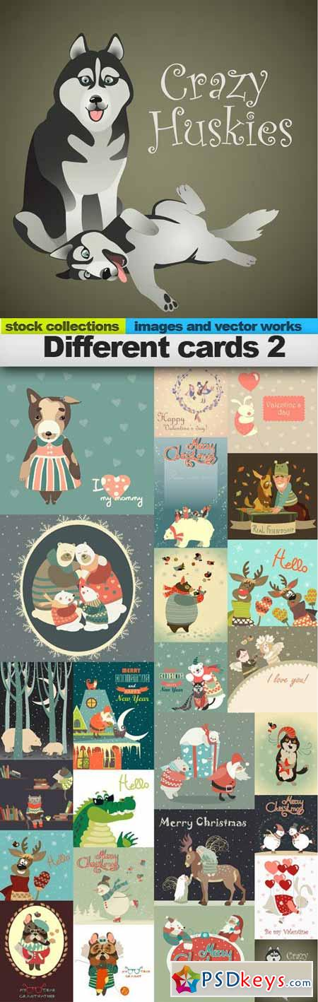 Different cards 2,25 x EPS