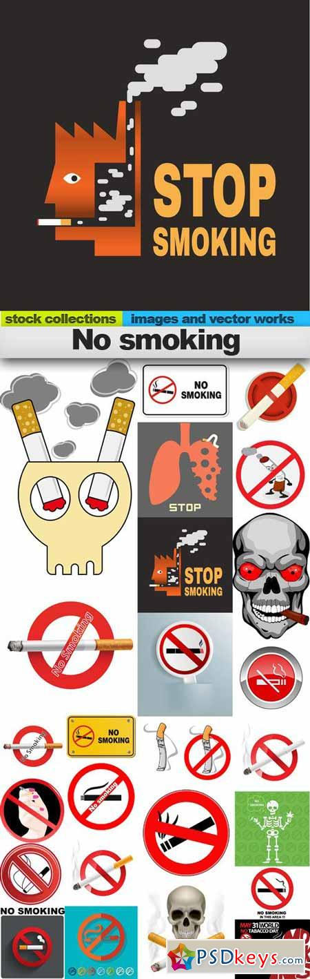 No smoking,25 x EPS