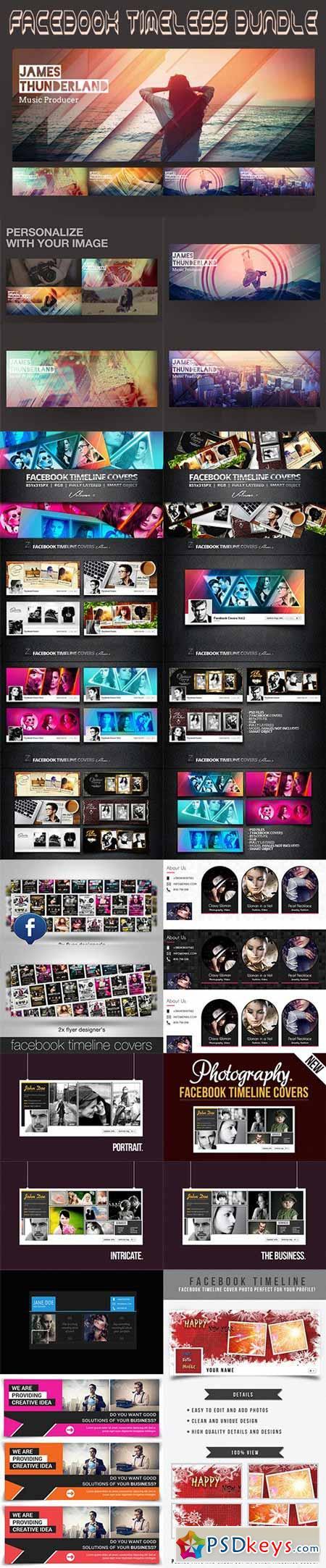facebook timeline templates bundle free download photoshop