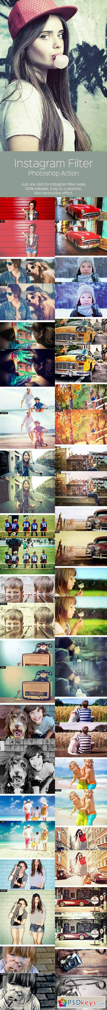 Instagram Filter - Photoshop Action 10014396