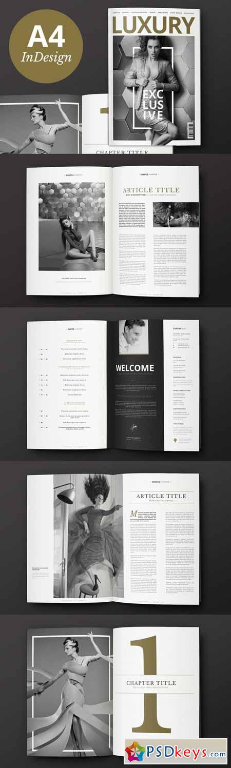 Luxury Magazine InDesign Template 79706 » Free Download Photoshop ...