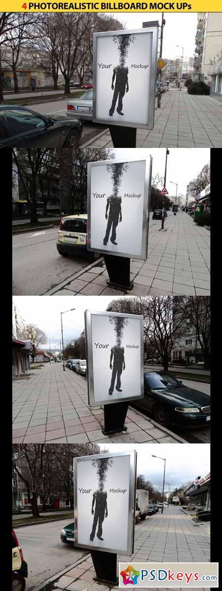 4 Billboards Mock Ups 163895
