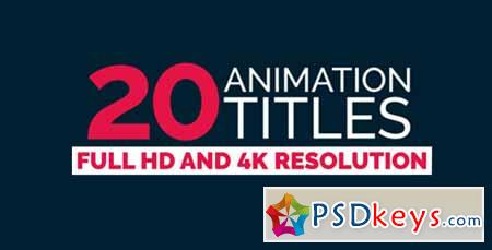 20 Title Animation - After Effects Projects