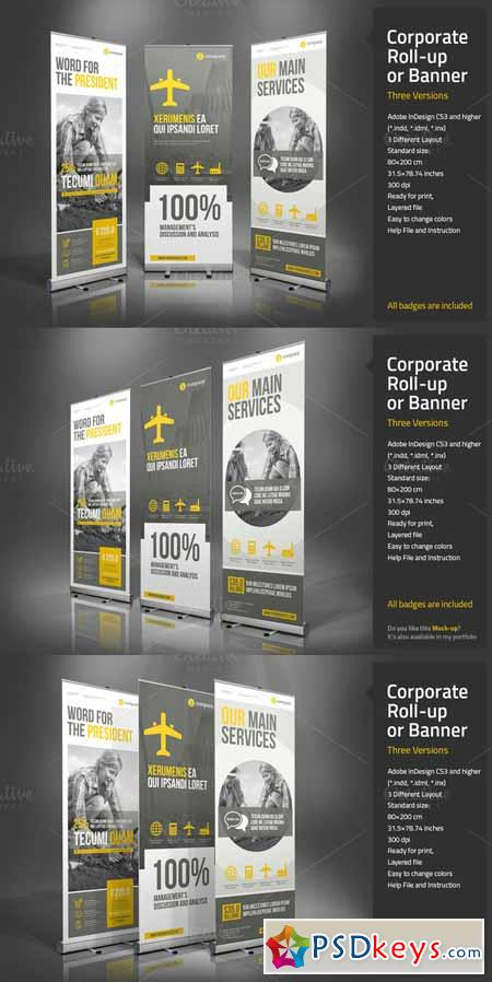Corporate Roll-up or Banner 166083