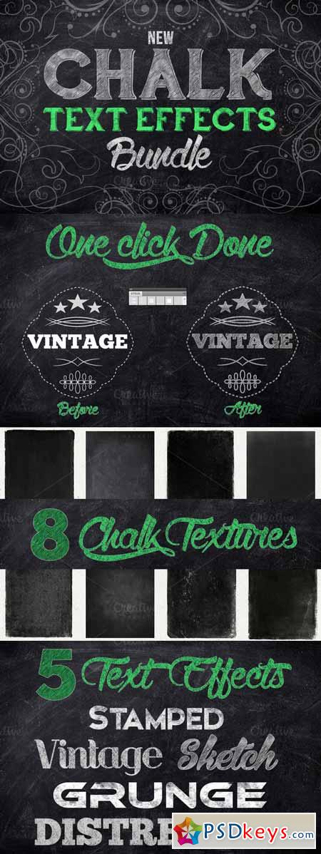 Chalk Text Effect Bundle 162152