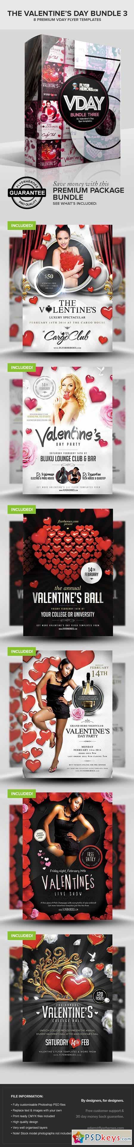 Valentine S Day Bundle 3 Free Download Photoshop Vector Stock