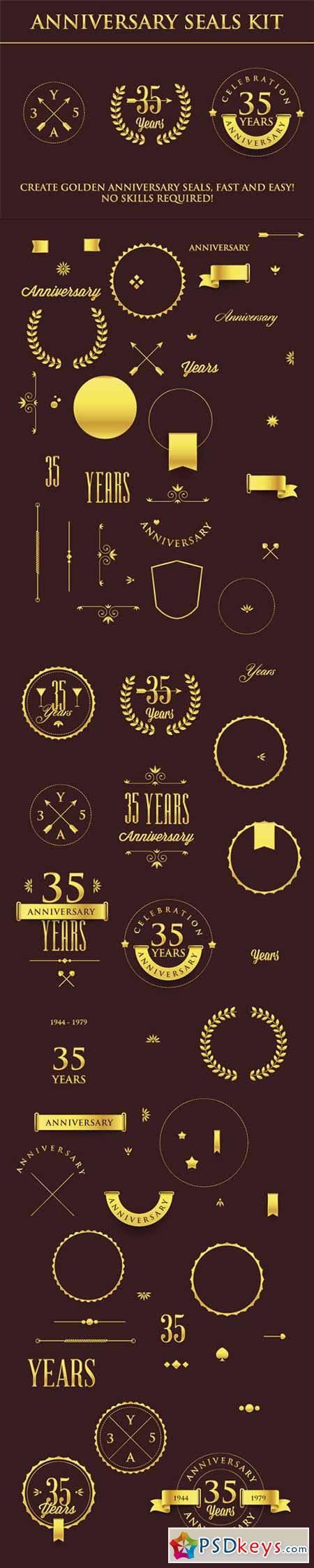 Designtnt - Anniversary Sign Collection
