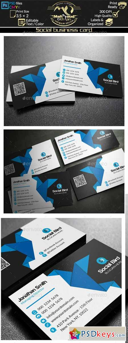 Social Media Business Card 72 10190949