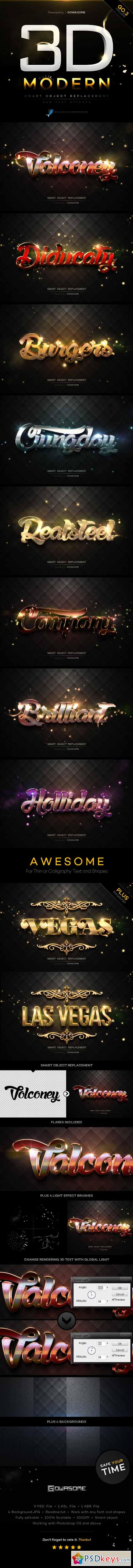 Modern 3D Text Effects GO.3 10193239