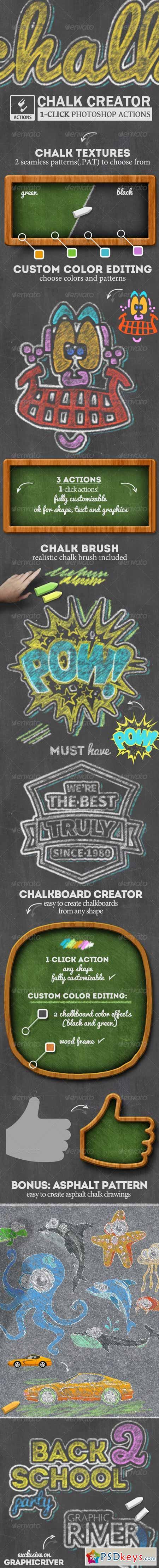 Chalk and Chalkboard Photoshop Creator 8174689