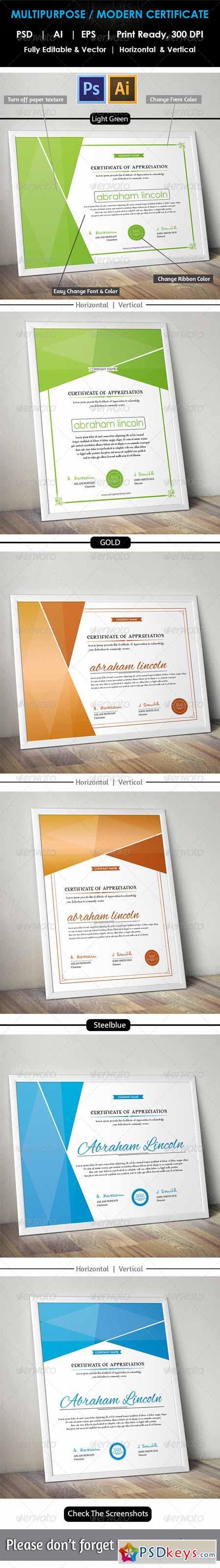 Simple Multipurpose Certificate GD012 8620898