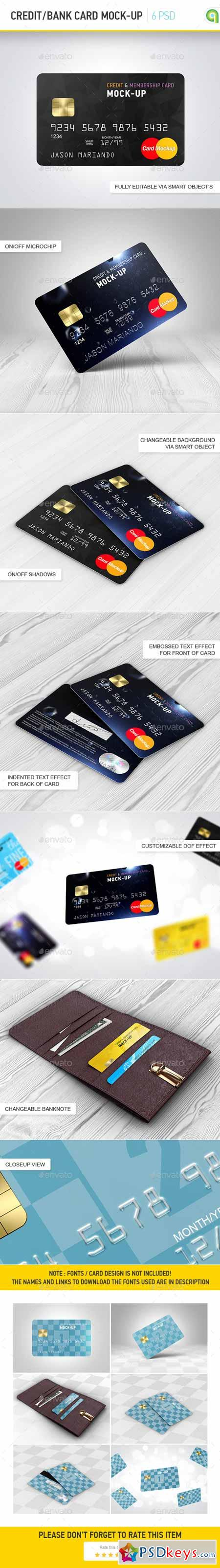 Credit Bank Card Mock-Up 9803458