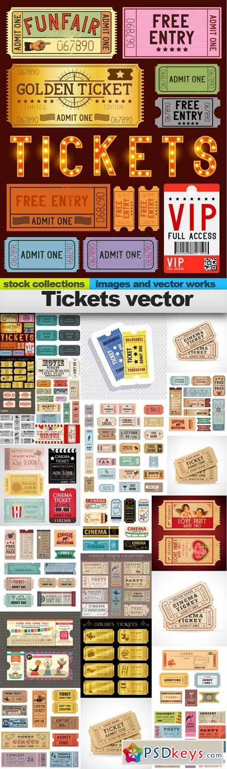 Tickets vector,25 x EPS
