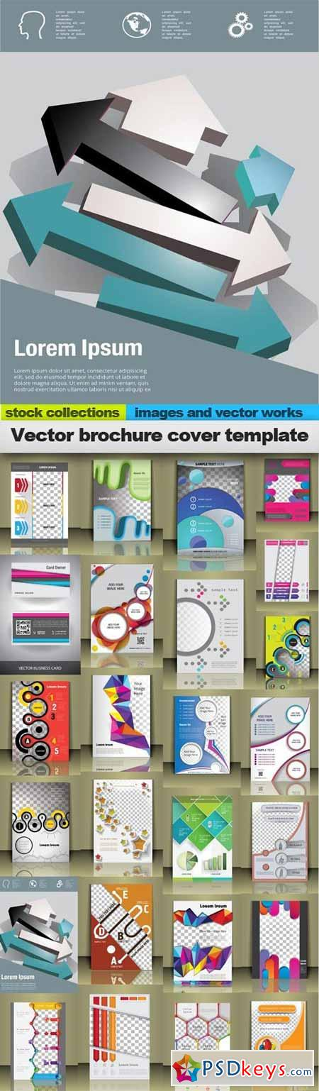 Vector brochure cover template,25 x EPS