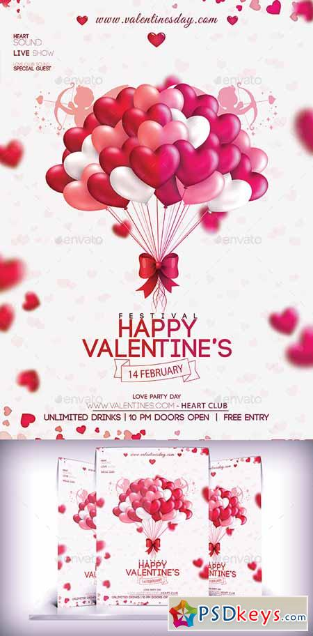 Valentines Party Day Flyer 10185481