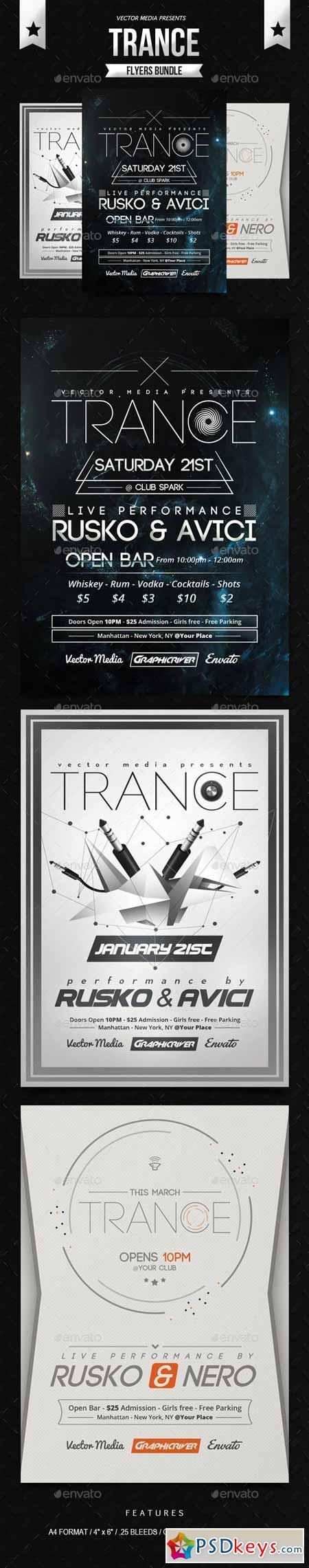 Trance - Flyers Bundle 10190823