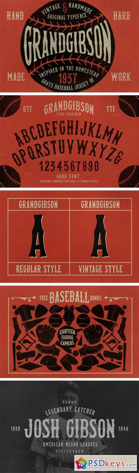 Grand Gibson Font Family - 2 Fonts $18