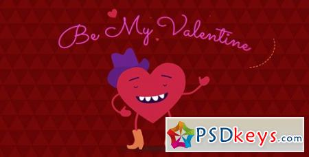 Be My Valentine Cartoon Greeting - After Effects Projects
