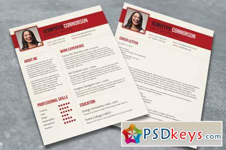 Fancy Resume & Cover Letter 99678 » Free Download Photoshop Vector ...