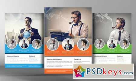 Corporate Flyer Template 96448 » Free Download Photoshop Vector ...