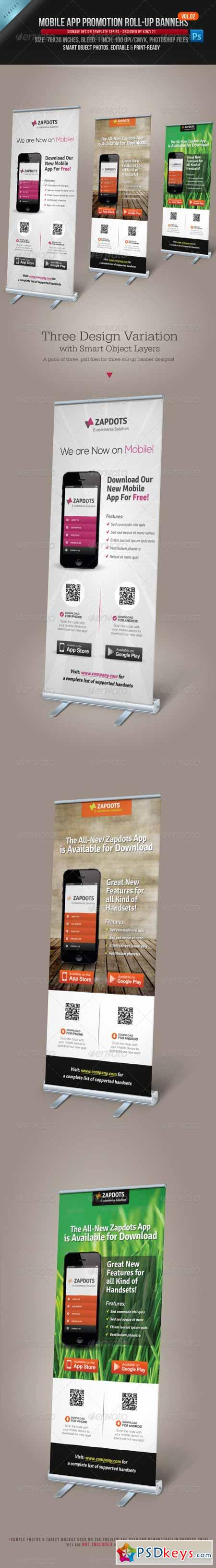 Mobile App Promotion Roll-up Banners Vol.02 4689886