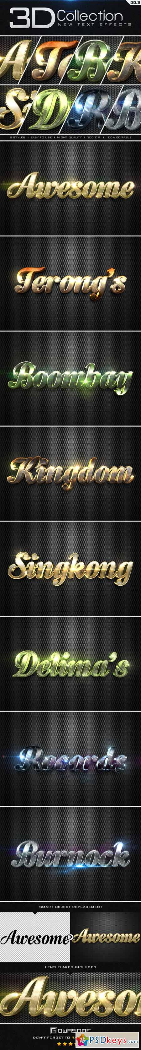 New 3D Collection Text Effects GO.3 9656922